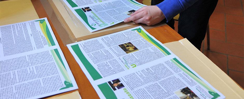 Creazione tipografica rivista dell'associazione Ass.C.A.