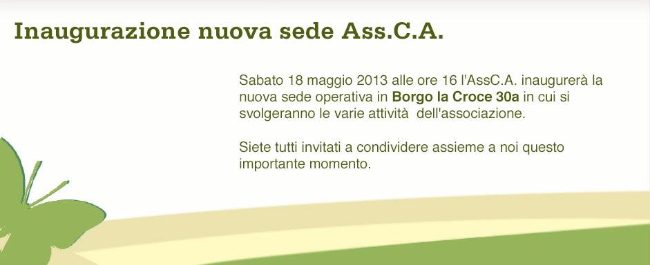 Inaugurazione nuova sede AssCA 2013